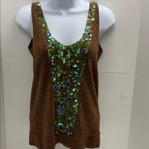 Necessary Objects Top sz. medium Metalized Sequins